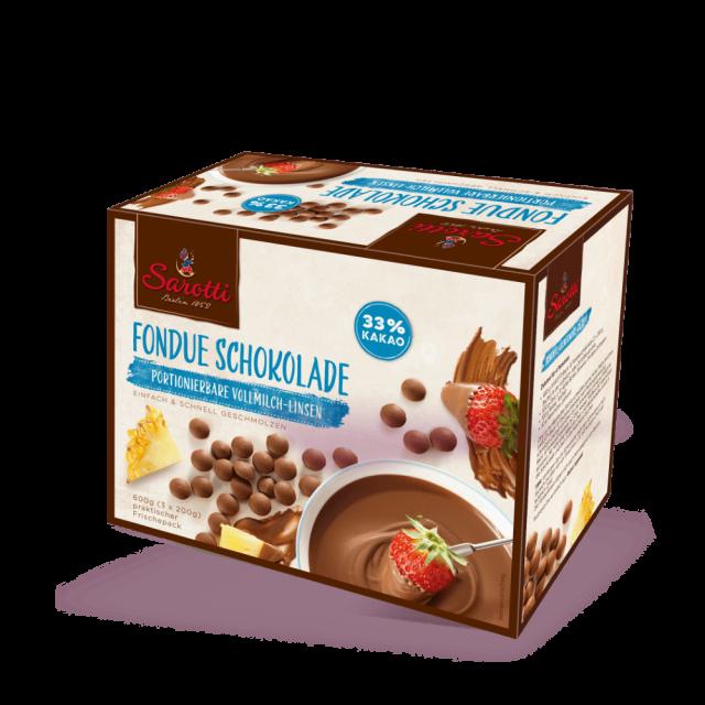 Bild für Fondue Schokolade – Vollmilch Linsen